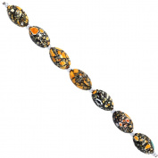 Fiona 20 by 12mm Faceted Olive Yellow Collage Stone Beads Strand