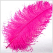 1 Pc Large Ostrich Feather Plume 60cm - 70cm (Top Quality) - HOT PINK