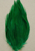 6 Pcs Hackle Feather Pads - KELLY GREEN