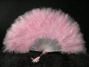 Marabou Feather Fan 30cm x 50cm - LIGHT PINK