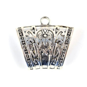 Antique Silver Fashion Jewellery Scarf Tube for Diy. Pt-510 6 Pcs Per Lot