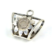 Antique Style Sunflower Jewellery Alloy Tube for Scarves. Pt-511 6 Pcs Per Lot