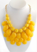 Handmade yellow teardrop bubble necklace,statement bubble necklace,bubble jewellery