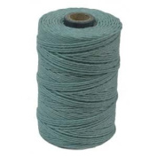 Waxed Irish Linen-Turquoise. Sold per 50 gramme spool - approx. 90 - 100 yards of 4-ply