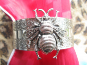 Bumble bee bangle bracelet vintage bees cuff artisan made