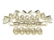 Fashion Jewellery For SCARF Silver Scarf Tubes Bails Rings Pendant Accessory Sold 36pcs