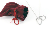 Vilmain Sterling Silver Both Our Hearts Necklace