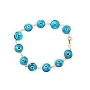 14K Gold Classical Evil Eye Bracelet