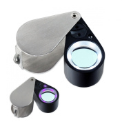 10x21mm Uv/led Triplet Illuminated Loupe-dual Light (White & Uv) Magnifier Loupe