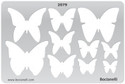 Plastic Stencil Template for Graphical Design Drawing Drafting Metal Clay Jewellery Jewellery Making - Butterflies Butterfly