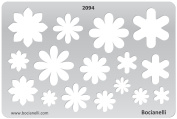 Plastic Stencil Template for Graphical Design Drawing Drafting Metal Clay Jewellery Jewellery Making - Spring Flower Flowers