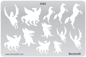 Plastic Stencil Template for Graphical Design Drawing Drafting Metal Clay Jewellery Jewellery Making - Horse, Pegasus