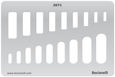 Plastic Stencil Template for Graphical Design Drawing Drafting Metal Clay Jewellery Jewellery Making - Rectangular / Oval shape