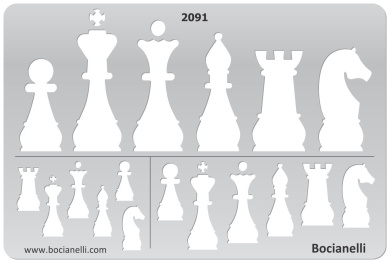 Plastic Stencil Template for Graphical Design Drawing Drafting Metal Clay Jewellery Jewellery Making - Chess Checkers Pieces Shape