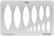 Plastic Stencil Template for Graphical Design Drawing Drafting Metal Clay Jewellery Jewellery Making - Pods