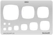Plastic Stencil Template for Graphical Design Drawing Drafting Metal Clay Jewellery Jewellery Making - Cushions