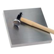 Ultra-Large Jeweller's Solid Steel Bench Block 15cm x 15cm x 1.9cm