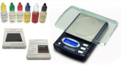 Electronic 600g/0.1g Gold Weigh Digital Scale + PRO Jewellery Testing Stone. Acid Test Solution Bottles 10k/14k/18k/22k/silver/platinum Gn Gramme Jewellery Troy Ounce Oz DWT