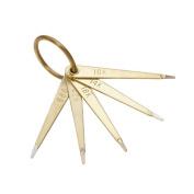 Gold Test Needles, Set Of 5