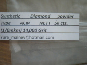 Diamond Powder 14.000 Grit 0-1 Microns -25cts.,=5 Grammes