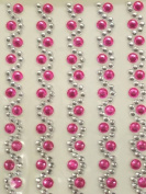 Self Adhesive Simulated Rhinestone Self Adhesive Sheets Colour Fuchsia