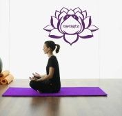 Hausewares Vinyl Decal Lotus Flower With Namaste Word Yoga Meditation Wall Art Decor Removable . Sticker Mural Unique Design for Room