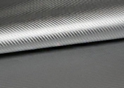 "Peel & Stick 3D Carbon Fibre Fabric - Not vinyl [Silver : 50cm(19.68"") X 140cm(55.11"")] Super Flexible Self-adhesive Fabric - Made in Korea - Ship by Pantos Express."