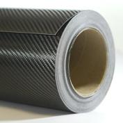 Black Carbon Fibre Vinyl Wrap - Outdoor rated for automotive use - 240cm x 150cm