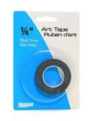HeadLine Graphic Art Tape black 0.6cm . [PACK OF 6 ]