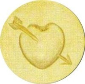 Heart with Arrow Wax Seal Stamp