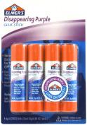 Elmer's Disappearing Purple Office Glue Sticks, 5ml Each, 4 Sticks per Pack