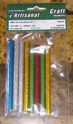 Glue Stick 10cm Glittered Mini 0.8cm 8 Pieces Arts & Crafts