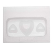 Resin Epoxy Mould For Jewellery Casting - 3 Assorted Hearts