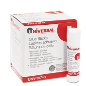 Universal Products - Universal - Permanent Glue Stick, .830ml, Stick, 12/Pack - Sold As 1 Pack - Washable and acid-free for use on paper, cardboard, photos, fabric. - Glue dries clear, wrinkle-free. - Ideal for archival materials.