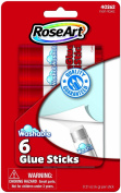 RoseArt 6-Count Washable Glue Sticks