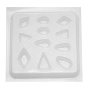 Resin Epoxy Mould For Jewellery Casting - 11 Assorted Jewels Triangles & Tear Drops