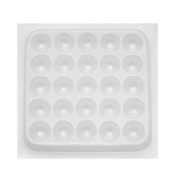 Resin Epoxy Mould For Jewellery Casting - 25 Round Cabochons 1.9cm .