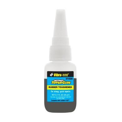 Vibra-TITE 310 Toughened Superglue: Gap Filling Black - 20 gm bottle