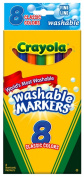 . Washable Classic Colours Fine Line 8 Markers in a Box (Pack of 6) 48 Markers Total