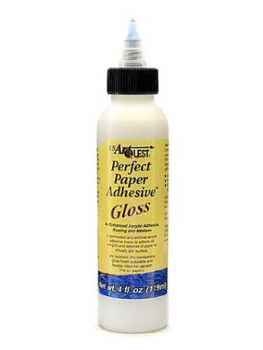 US Art Quest Perfect Paper Adhesive gloss 120ml [PACK OF 3 ]
