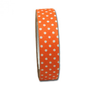 Maya Road FT2509 Candy Dots Fabric Tape for Crafting, Clementine Orange