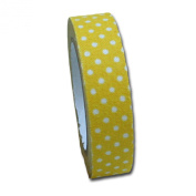 Maya Road FT2510 Candy Dots Fabric Tape for Crafting, Lemon Yellow