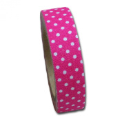 Maya Road FT2513 Candy Dots Fabric Tape for Crafting, Pink Punch