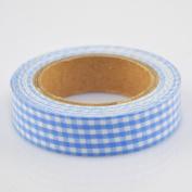 Lychee Craft Blue Grid Fabric Washi Tape Decorative DIY Tape