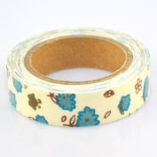 Lychee Craft Cloud Flower Fabric Washi Tape Decorative DIY Tape
