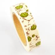 Lychee Craft Green Lotus Fabric Washi Tape Decorative DIY Tape