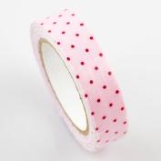 Lychee Craft Light Pink Dots Fabric Washi Tape Decorative DIY Tape