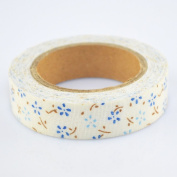 Lychee Craft Small Blue Floral Fabric Washi Tape Decorative DIY Tape