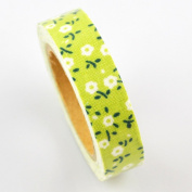 Lychee Craft White Small Flower Fabric Washi Tape Decorative DIY Tape
