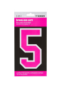 Sew Easy Industries 1-Sheet Number Transfer, 13cm by 7.6cm , Number 5, Neon Pink